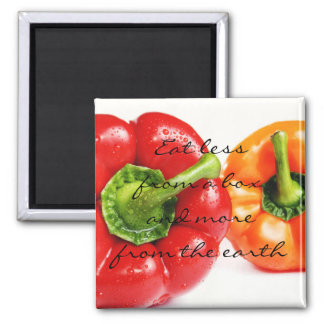 Sweet Bell Peppers    Eat more from the earth Magnet