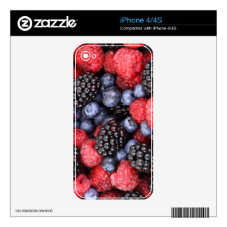 Sweet Berry Medley Print Decals For iPhone 4S
