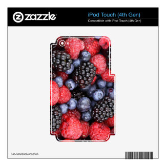 Sweet Berry Medley Print iPod Touch 4G Decal