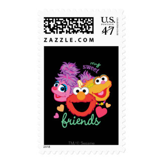 Sweet Best Friends Characters Postage Stamp