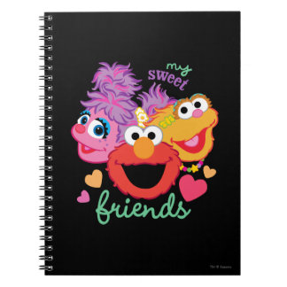 Sweet Best Friends Characters Spiral Notebook