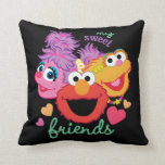 Sweet Best Friends Characters Throw Pillow
