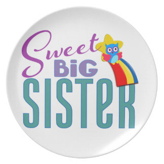 Sweet Big Sister Party Plate