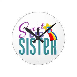 Sweet Big Sister Round Clock
