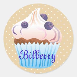 Sweet Bilberry cupcake Classic Round Sticker