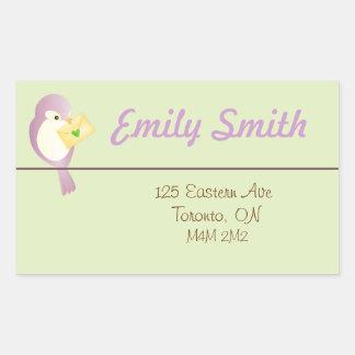 Sweet Bird Address Return Sticker