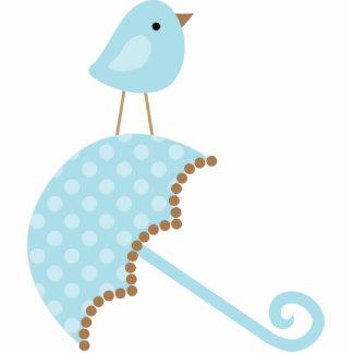 Sweet Bird Baby Shower Cake Topper Standing Photo Sculpture