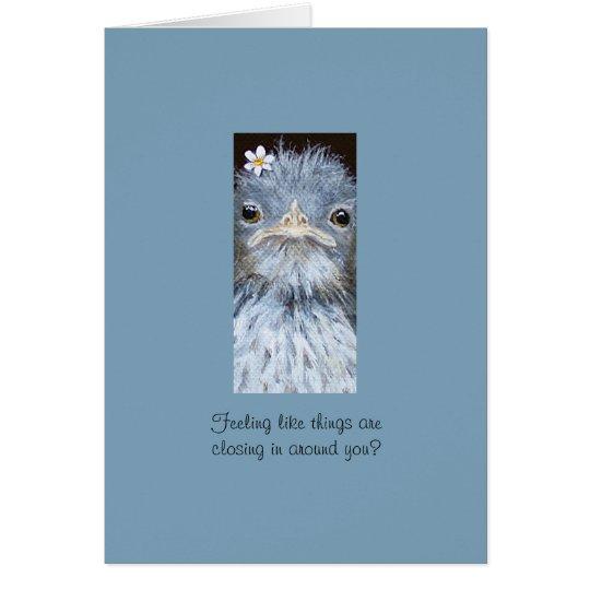 sweet bird encouragement card