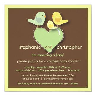 Sweet Bird Family Neutral Baby Shower Invitation