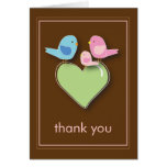 Sweet Bird Family Thank You Notecard Stationery Note Card