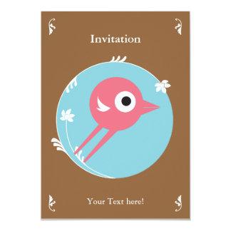 SWEET BIRD INVITATION CARD BROWN