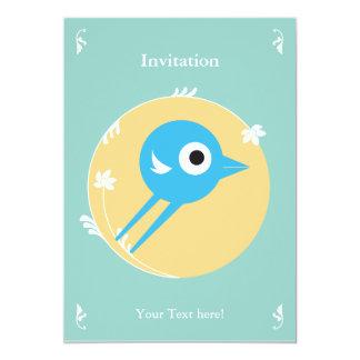 SWEET BIRD INVITATION CARD GREEN