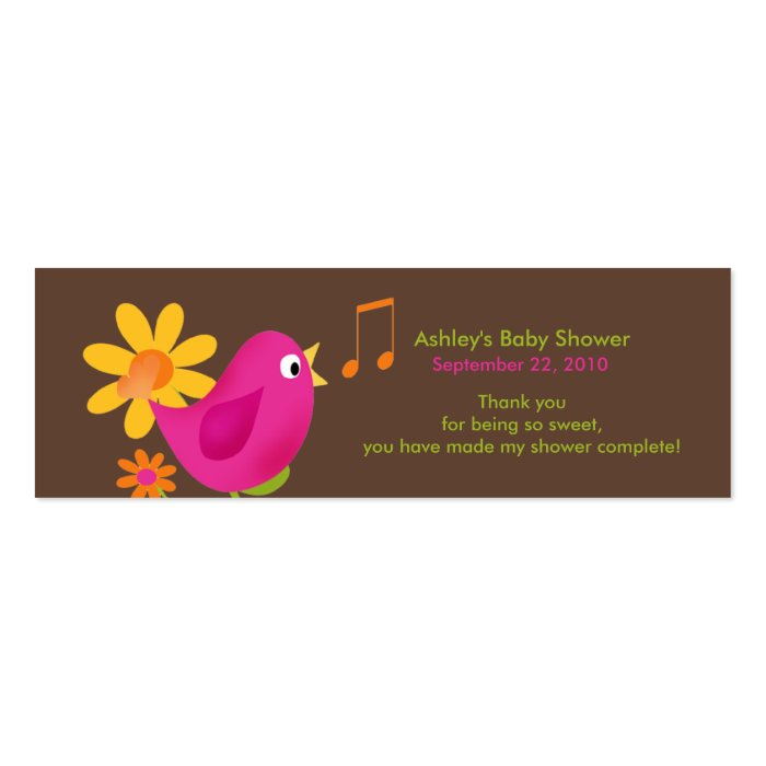 Sweet Birdie Baby Shower Favor Tags Mini Business Card