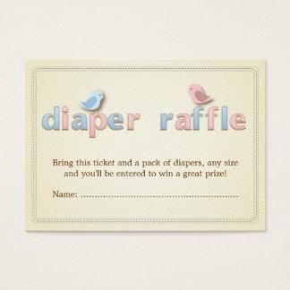 Sweet Birdie Pink Blue Diaper Raffle Ticket Insert