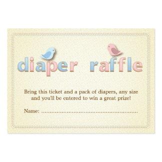 Sweet Birdie Pink Blue Diaper Raffle Ticket Insert Large Business Card