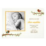 Sweet Birdies Baby Birth Announcement Invitation