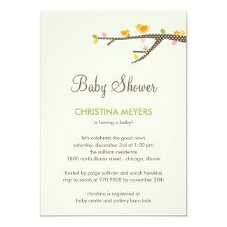 "Sweet Birdies Baby Shower Invitation 5"" X 7"" Invitation Card"