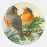 Sweet Birds Vintage Postcard Print Stickers Tags