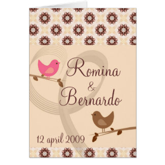 Sweet birdy save the date card