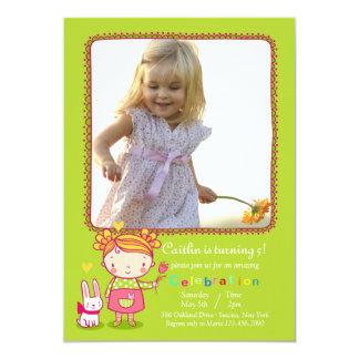 Sweet Birthday Girl Photo Invitation