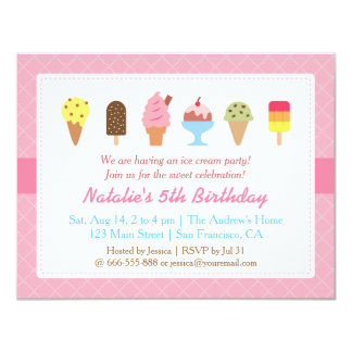 ice cream party invitations & announcements | zazzle, Party invitations