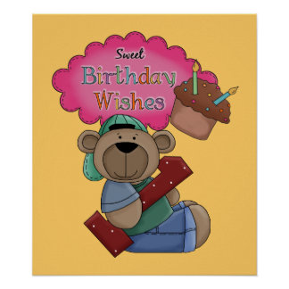 Sweet Birthday Wishes 1 Year Old Birthday Poster