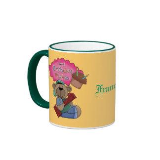 Sweet Birthday Wishes 1 Year Old Birthday Ringer Mug