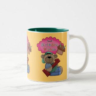 Sweet Birthday Wishes 1 Year Old Birthday Two-Tone Coffee Mug