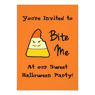 Sweet Bite Me Halloween Party Invitations
