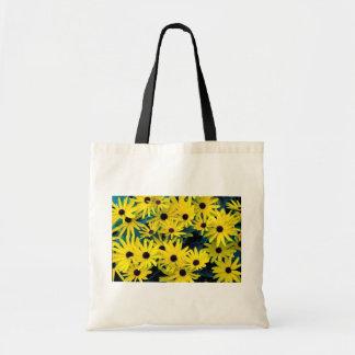 Sweet black-eyed susan canvas bags
