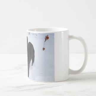 Sweet Black French Bulldog Likes Snow Coffee Mug