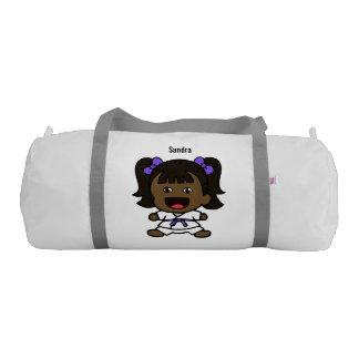 Sweet Black Karate Girl Duffel Bag
