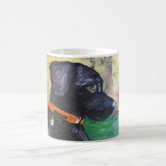 Sweet Black Lab Coffee Mug by Willowcatdesigns