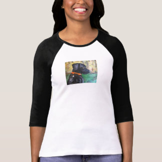 Sweet Black Lab T-Shirt by Willowcatdesigns