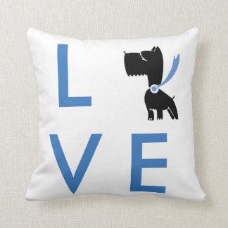 Sweet Black, White, and blue Love Dog Pillow