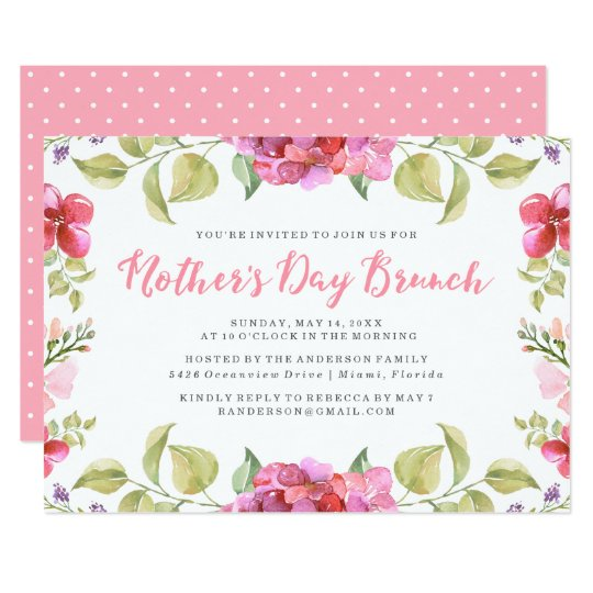 sweet blossoms mother s day brunch invitation zazzle com