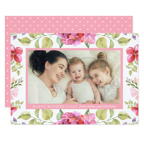 Sweet Blossoms Mother's Day Photo Card