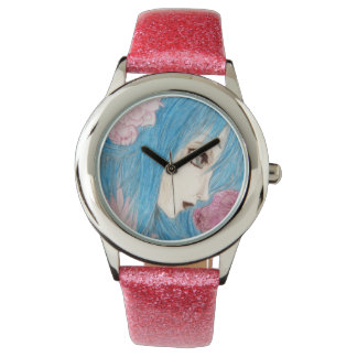 Sweet Blue and Pink Fairy Wristwatch