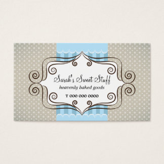 Sweet Blue and Polka Dots Business Card