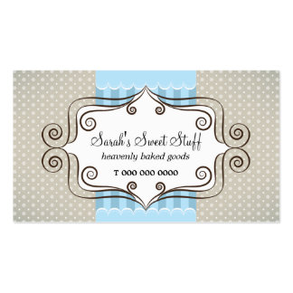 Sweet Blue and Polka Dots Business Card Templates