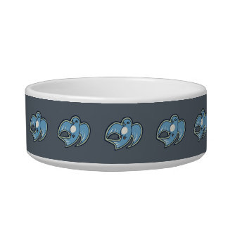 Sweet Blue And White Bird Ink Drawing Design Bowl