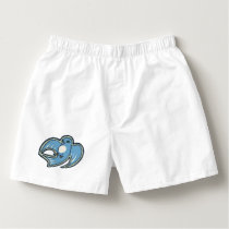 Sweet Blue And White Bird Ink Drawing Design Boxers