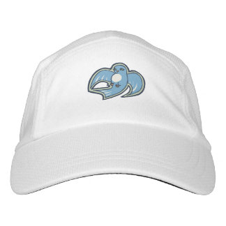 Sweet Blue And White Bird Ink Drawing Design Headsweats Hat
