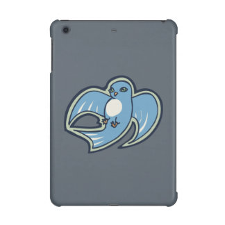 Sweet Blue And White Bird Ink Drawing Design iPad Mini Retina Covers