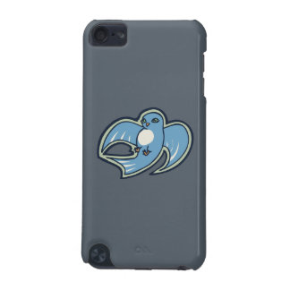 Sweet Blue And White Bird Ink Drawing Design iPod Touch 5G Cases