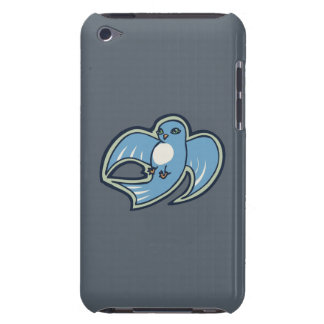 Sweet Blue And White Bird Ink Drawing Design iPod Touch Case