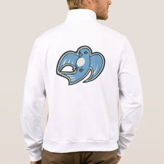 Sweet Blue And White Bird Ink Drawing Design Jacket