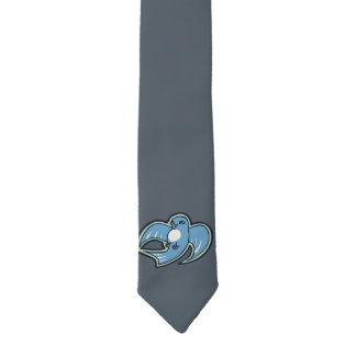 Sweet Blue And White Bird Ink Drawing Design Necktie