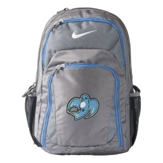 Sweet Blue And White Bird Ink Drawing Design Nike Backpack