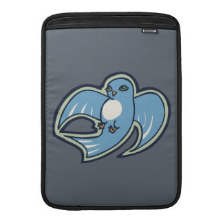 Sweet Blue And White Bird Ink Drawing Design Sleeve For MacBook Air